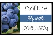 étiquette adhésive confiture myrtille