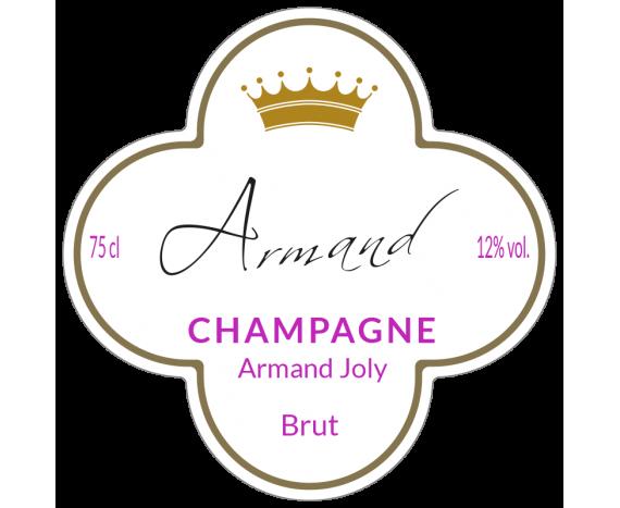 étiquette champagne forme personnalisée