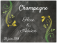 autocollant champagne mariage 2018