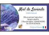 étiquette autocollante miel de lavande