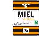 étiquette adhésive miel de fleurs
