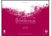 étiquette vin de bordeaux 2012