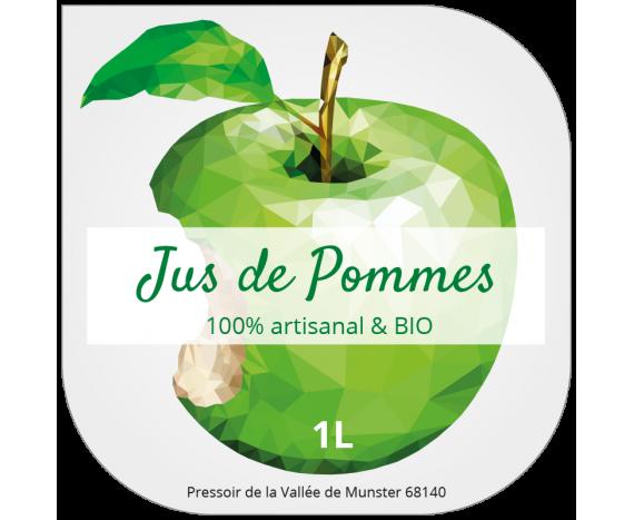 étiquette jus de fruits pomme originale