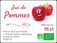 étiquette adhésive jus de pommes