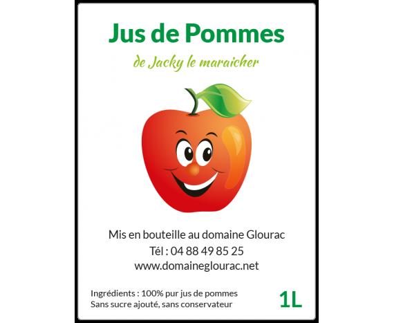 étiquette bouteille jus de pommes