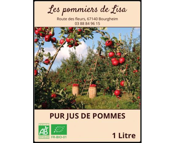Autocollant jus de pommes 1L