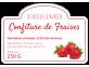 Étiquette autocollante confiture fraise