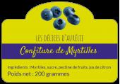 Étiquettes autocollantes confiture de myrtilles
