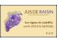 étiquette autocollante jus de raisin