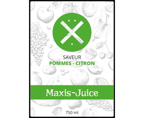 étiquette jus de fruits mélange pomme citron