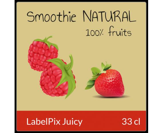 étiquette autocollante jus de fruits smoothie