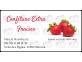Étiquettes autocollantes confiture extra fraise