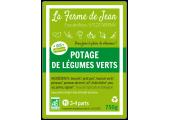 étiquette autocollante potage légumes verts