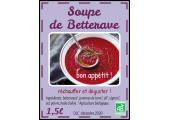 étiquette conserve Soupe de betterave