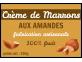 Autocollant personnalisé Crème de Marrons