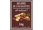 étiquette autocollante beurre de cacahuètes