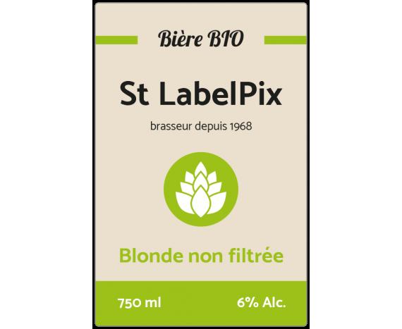 étiquette autocollante bière blonde non filtrée