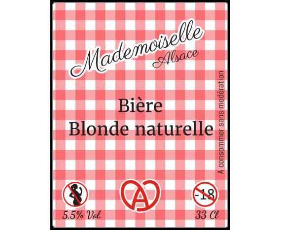 étiquette autocollante bière blonde alsacienne