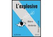 étiquette autocollante bière explosive