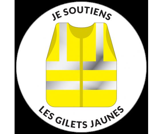 Autocollant soutien les gilets jaunes