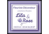 étiquette fleuriste décorateur lila rose