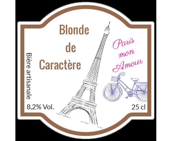 étiquette bière blonde paris