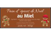 étiquette pain d'épices de noel