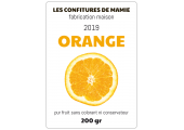Étiquette confiture maison orange