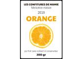 Étiquette confiture maison orange