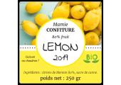 étiquette confiture bio citron