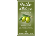 étiquette autocollante huile d'olive vierge extra