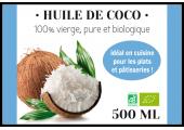 Étiquette autocollante huile de coco