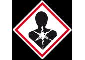 Étiquette produit dangereux risque mutagène