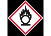 Étiquette danger produit comburant