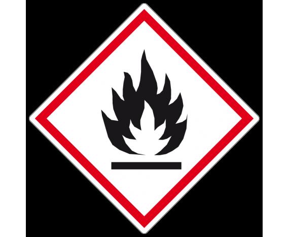 étiquette produit inflammable danger