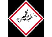 Étiquette autocollante danger explosif