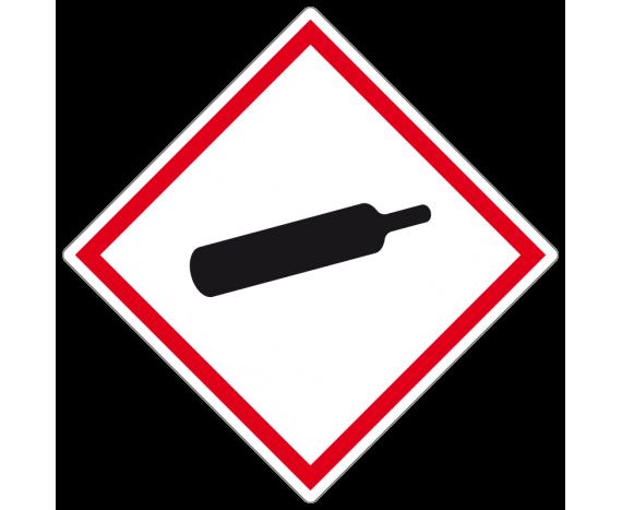 Étiquette danger récipient sous pression