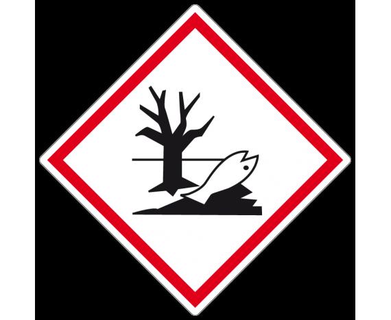 étiquette symbole danger pour l'environnement