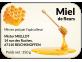 étiquette autocollante miel de fleurs