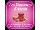 étiquette boulangerie avec macarons roses