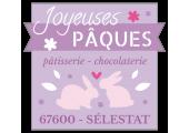 étiquette chocolaterie joyeuses pâques lapin