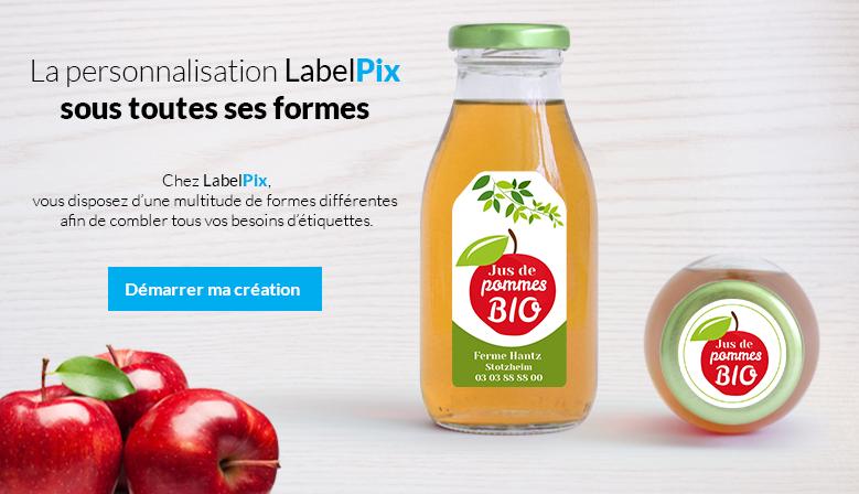 Chez LabelPix, vous disposez d'une multitude de formes différentes afin de combler tous vos besoins d'étiquettes !